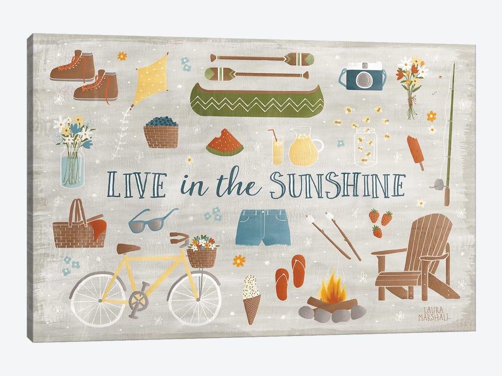 Summer Sunshine III by Laura Marshall 1-piece Canvas Artwork