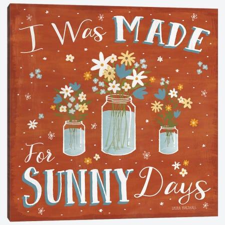 Summer Sunshine VII Canvas Print #WAC7133} by Laura Marshall Canvas Art Print