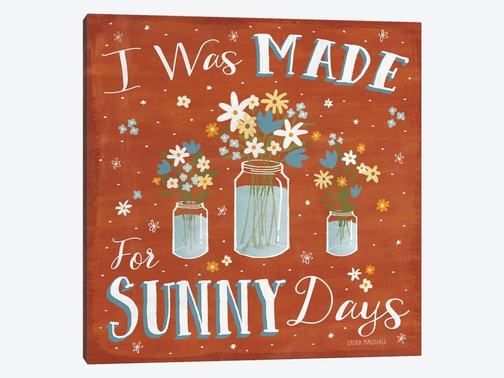 Summer Sunshine VII by Laura Marshall 1-piece Canvas Print