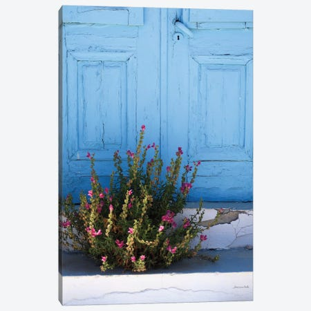 Santorini I Canvas Print #WAC7140} by Sara Zieve Miller Canvas Wall Art
