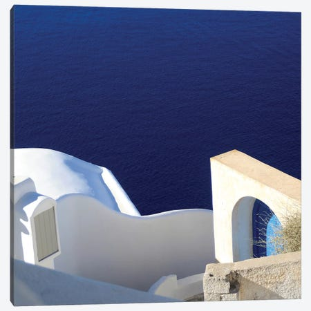 Santorini II Canvas Print #WAC7141} by Sara Zieve Miller Canvas Wall Art