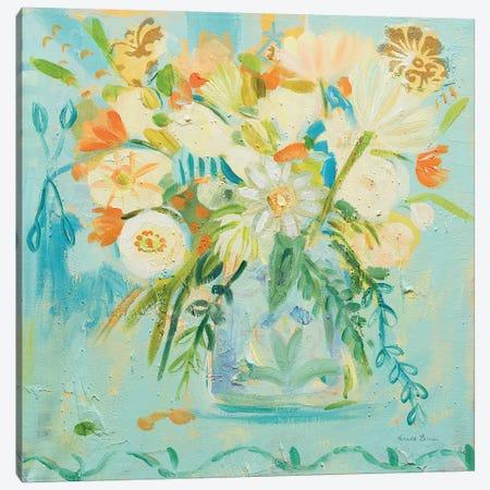 Misty Blue Canvas Print #WAC7143} by Farida Zaman Canvas Wall Art