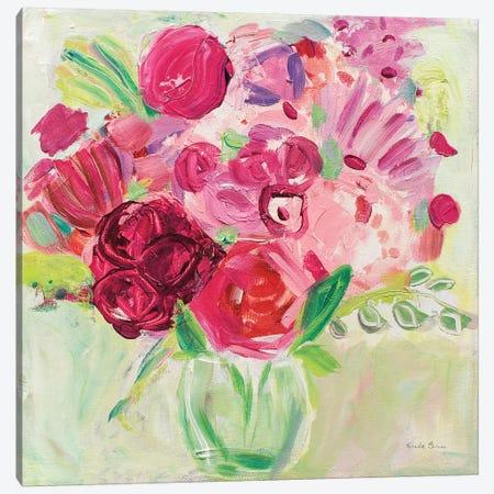 Pink And Red Florals Canvas Print #WAC7144} by Farida Zaman Canvas Art Print