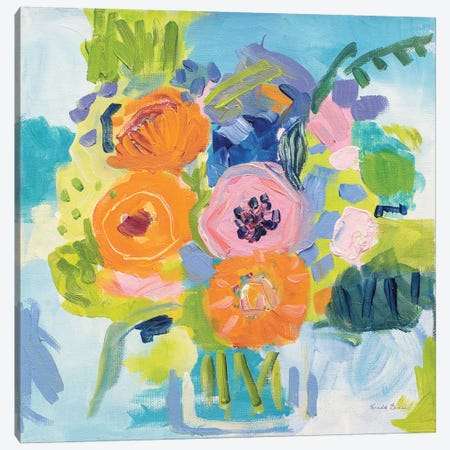 Summer Bouquet Canvas Print #WAC7146} by Farida Zaman Art Print