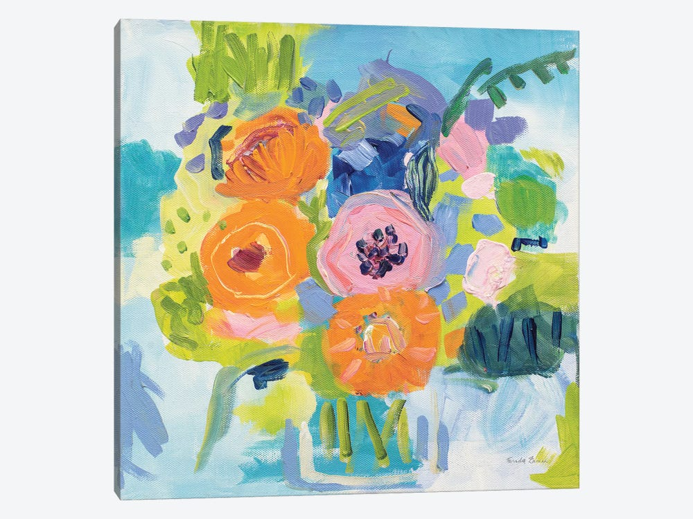 Summer Bouquet by Farida Zaman 1-piece Canvas Art Print