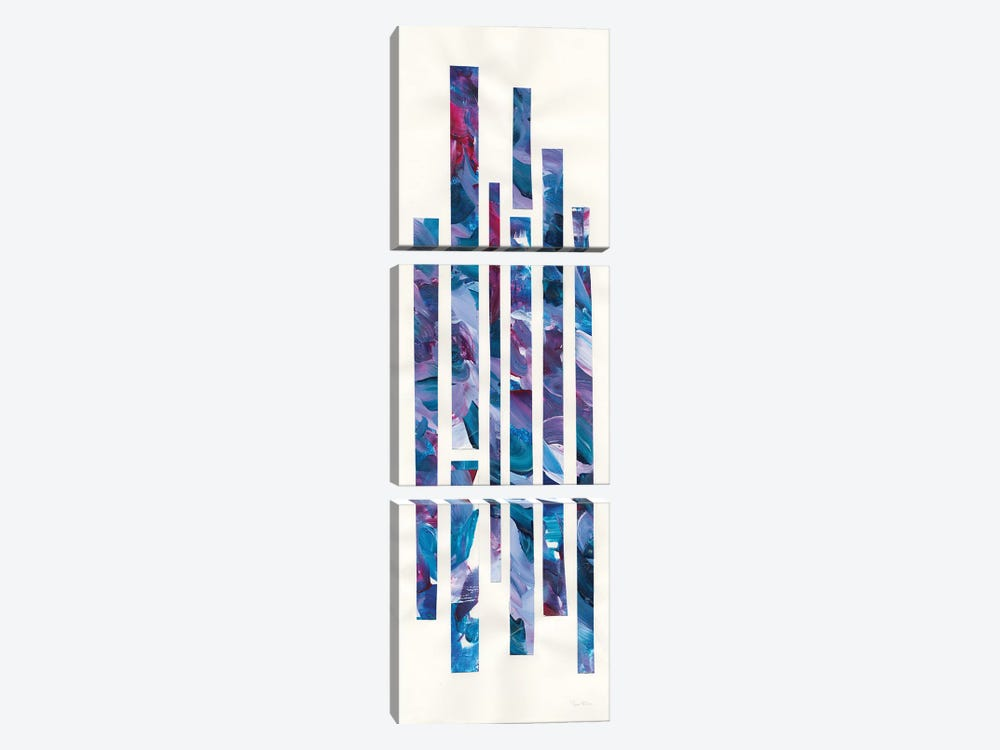 Ribbons Of Jewels I by Piper Rhue 3-piece Canvas Wall Art