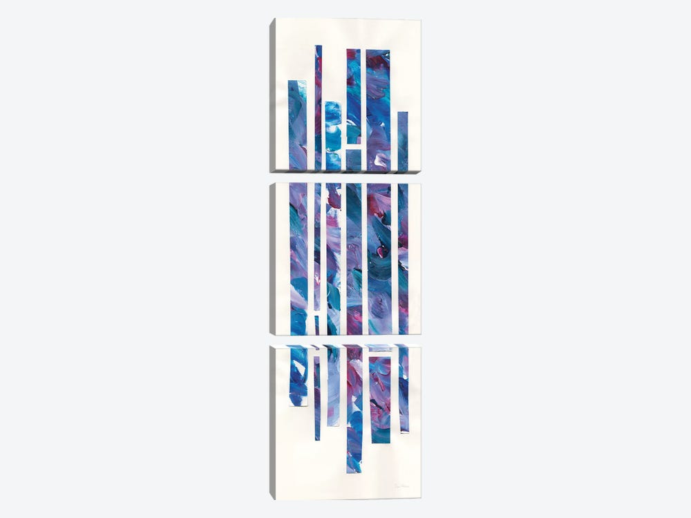 Ribbons Of Jewels II by Piper Rhue 3-piece Canvas Art Print