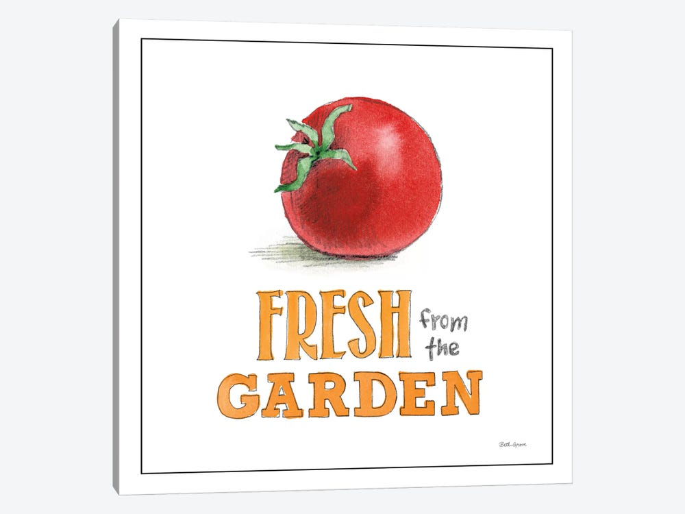 Fresh From The Garden I by Beth Grove 1-piece Canvas Art