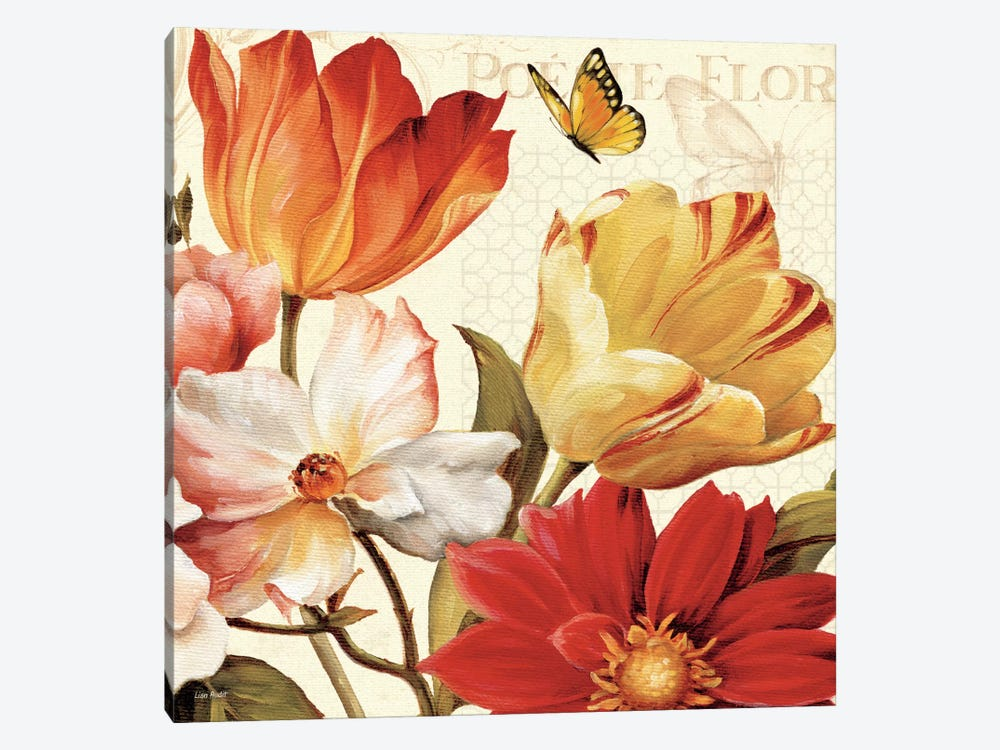 Poesie Florale III  by Lisa Audit 1-piece Canvas Wall Art