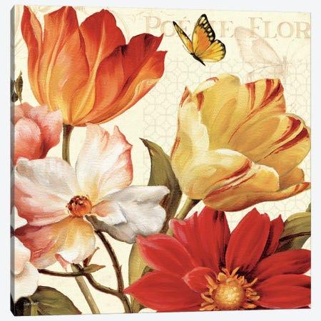 Poesie Florale III  Canvas Print #WAC718} by Lisa Audit Canvas Artwork