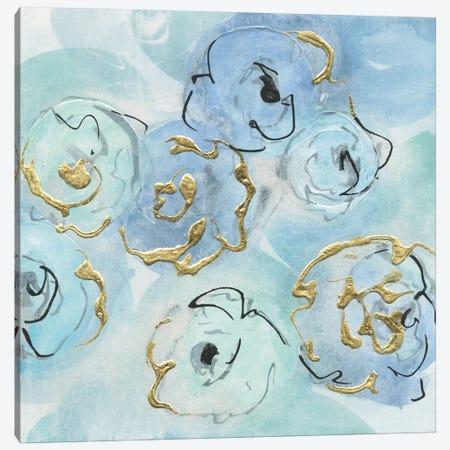 Gold Edged Teal II Canvas Print #WAC7190} by Chris Paschke Art Print