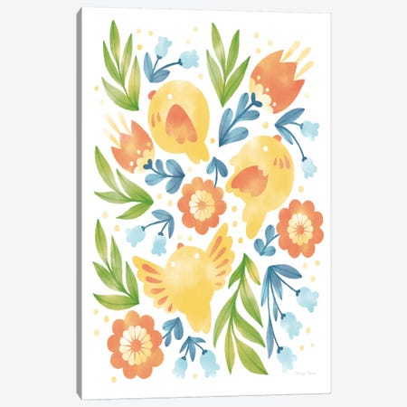 Spring Fling II Canvas Print #WAC7192} by Cleonique Hilsaca Art Print