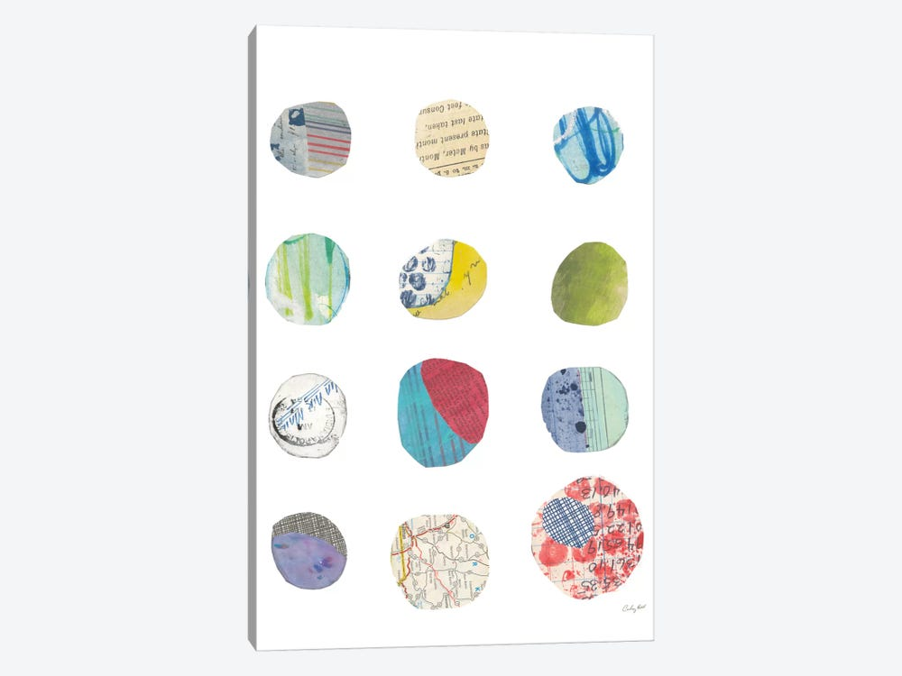 Geometric Collage II by Courtney Prahl 1-piece Canvas Art
