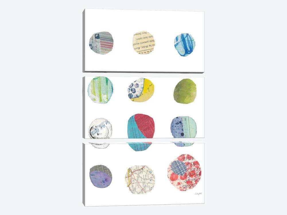 Geometric Collage II by Courtney Prahl 3-piece Canvas Artwork