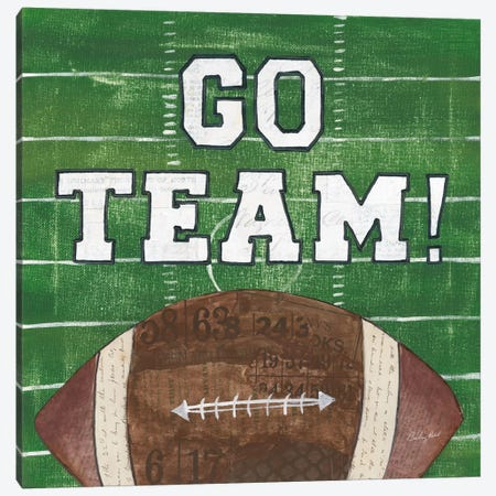 On The Field I: Go Team Canvas Print #WAC7197} by Courtney Prahl Canvas Art