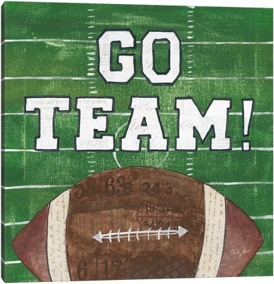 On The Field I: Go Team Canvas Art Print