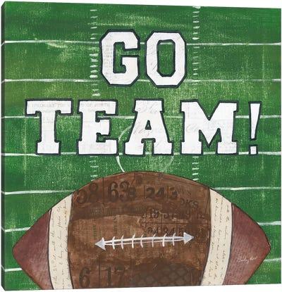 On The Field I: Go Team Canvas Art Print