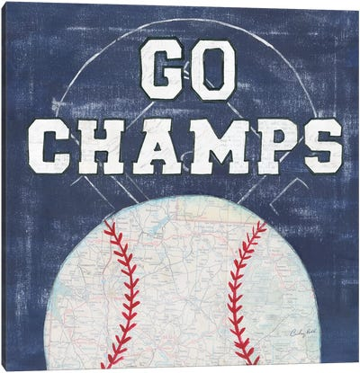 On The Field III: Go Champs Canvas Art Print