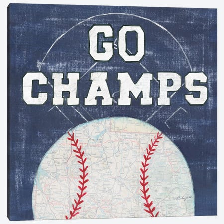 On The Field III: Go Champs Canvas Print #WAC7199} by Courtney Prahl Art Print