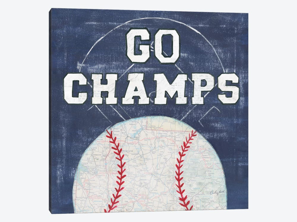 On The Field III: Go Champs by Courtney Prahl 1-piece Art Print