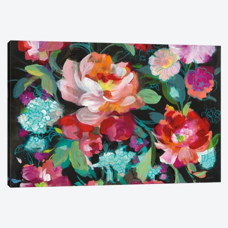 Bright Floral Medley Crop Canvas Print #WAC7201} by Danhui Nai Canvas Print