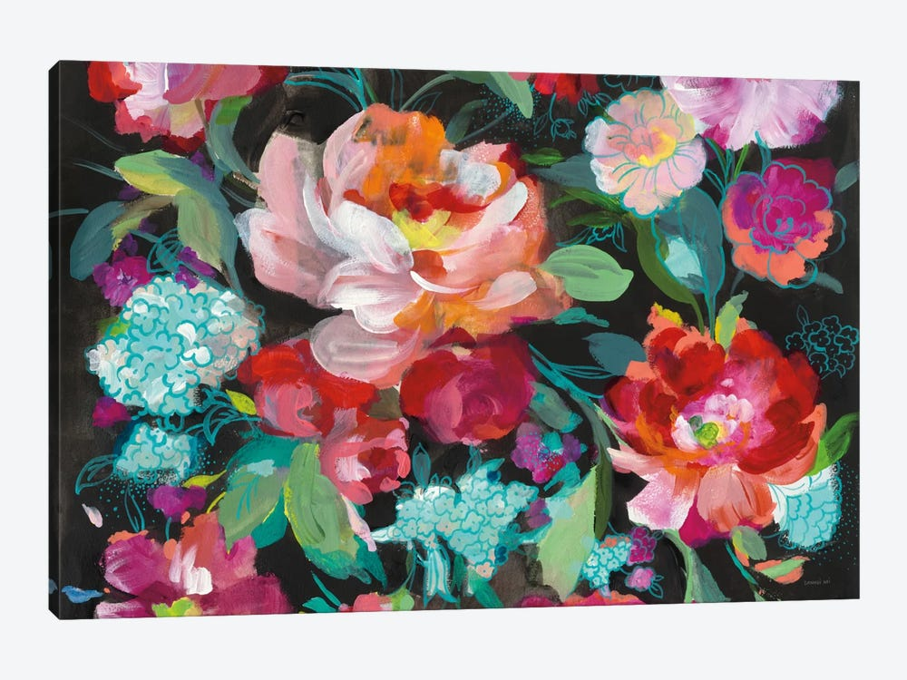 Bright Floral Medley Crop by Danhui Nai 1-piece Canvas Artwork