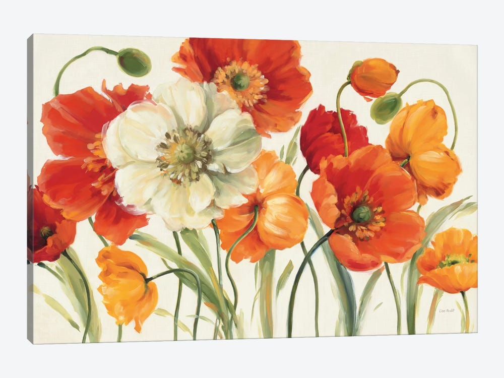 Poppies Melody I by Lisa Audit 1-piece Canvas Wall Art