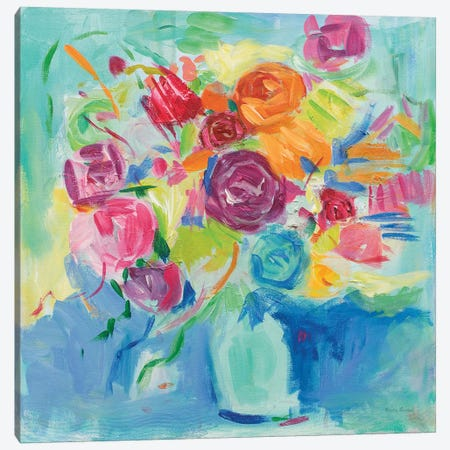 Matisse Florals Canvas Print #WAC7225} by Farida Zaman Canvas Wall Art