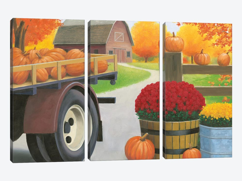 Autumn Affinity I by James Wiens 3-piece Canvas Wall Art