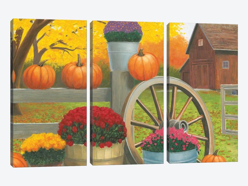 Autumn Affinity II by James Wiens 3-piece Canvas Print