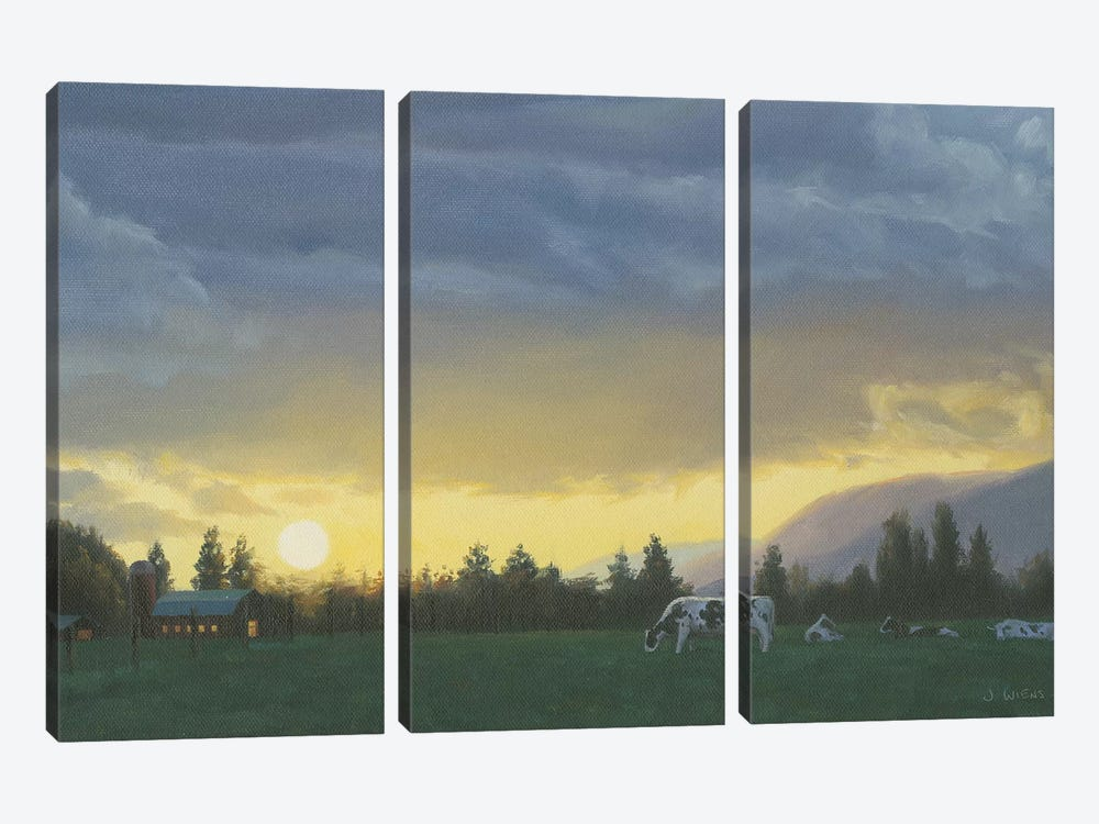Farm Life II by James Wiens 3-piece Canvas Wall Art