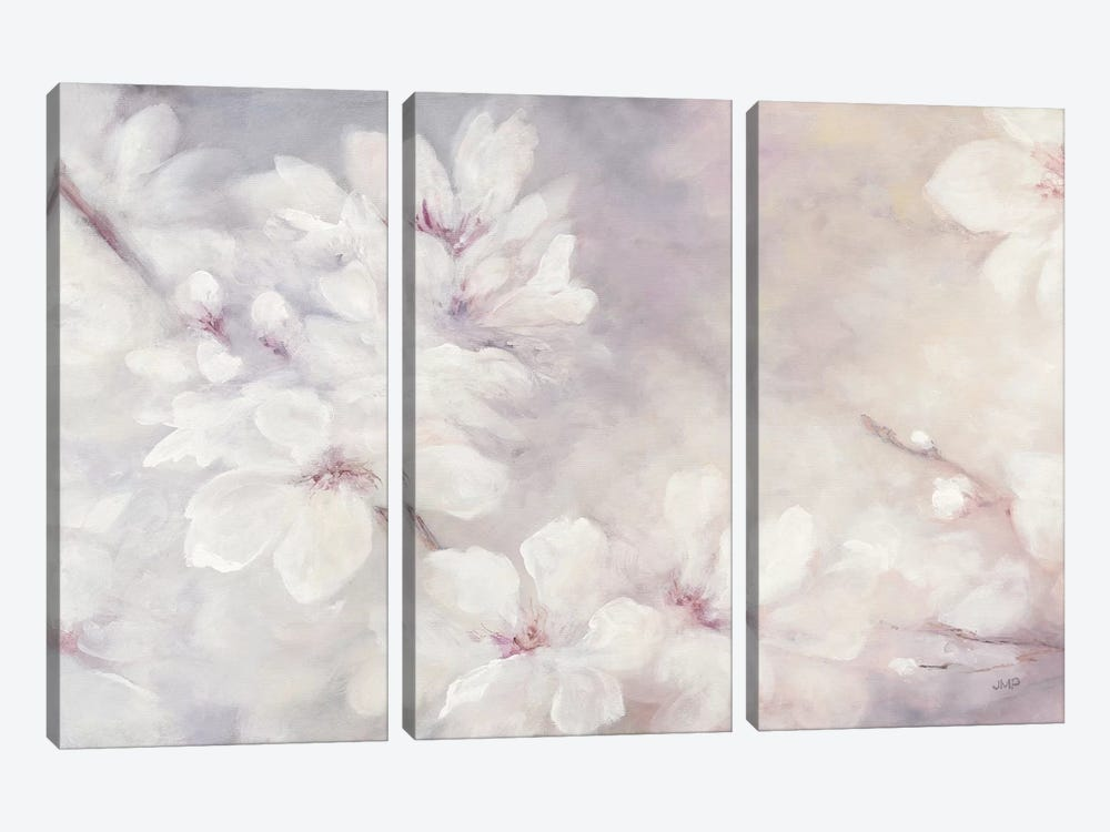Cherry Blossoms by Julia Purinton 3-piece Canvas Wall Art