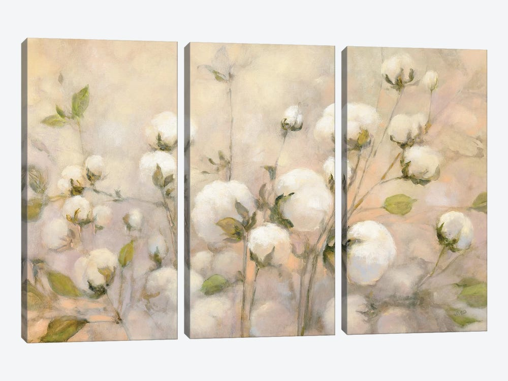 Cotton Field by Julia Purinton 3-piece Art Print