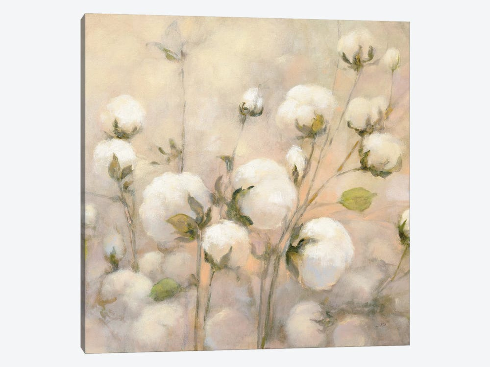 Cotton Field, Close Up by Julia Purinton 1-piece Canvas Artwork