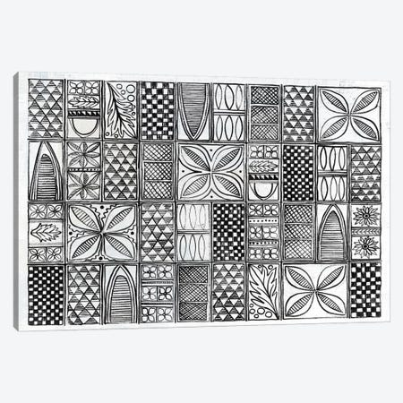 Patterns Of The Amazon B&W I Canvas Print #WAC7253} by Kathrine Lovell Canvas Artwork