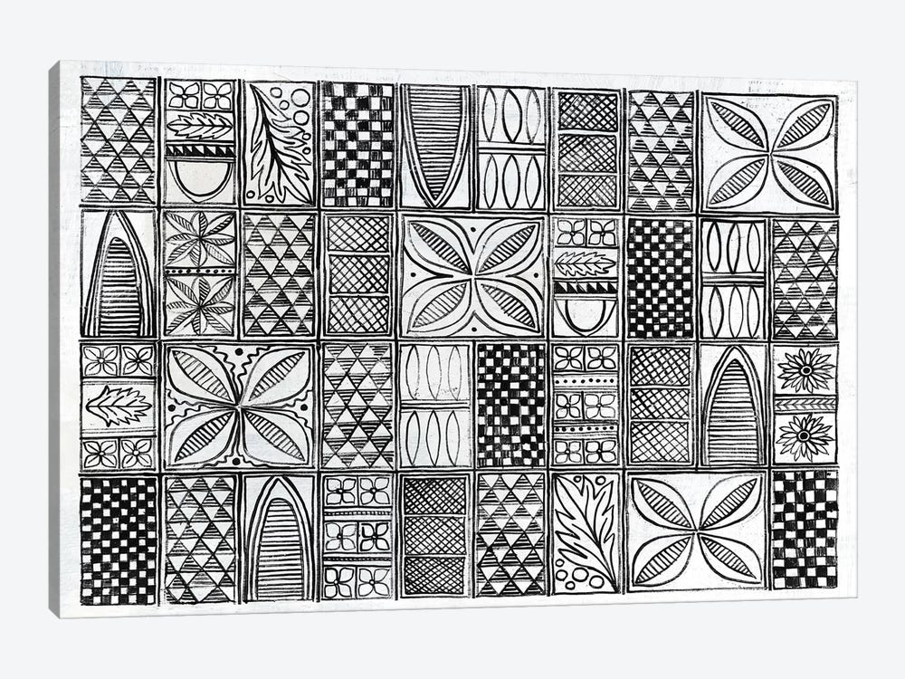 Patterns Of The Amazon B&W I by Kathrine Lovell 1-piece Canvas Print