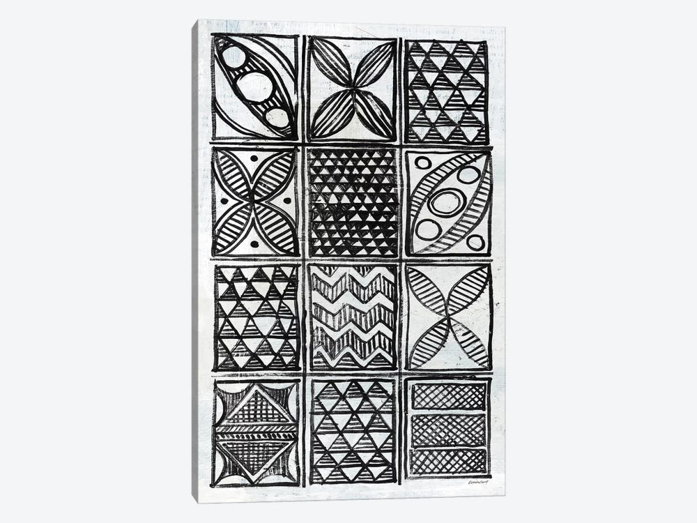 Patterns Of The Amazon B&W II by Kathrine Lovell 1-piece Canvas Artwork