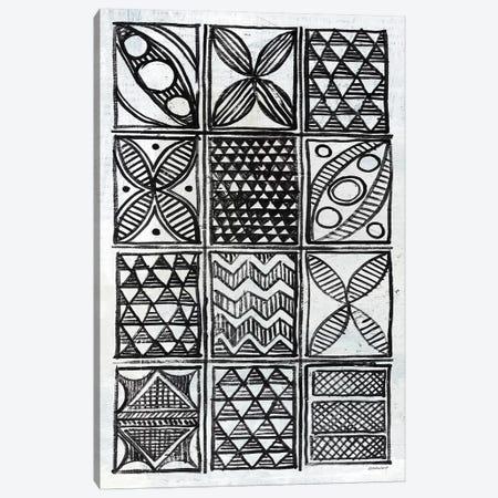 Patterns Of The Amazon B&W II Canvas Print #WAC7254} by Kathrine Lovell Art Print