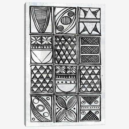 Patterns Of The Amazon B&W III Canvas Print #WAC7255} by Kathrine Lovell Canvas Art Print