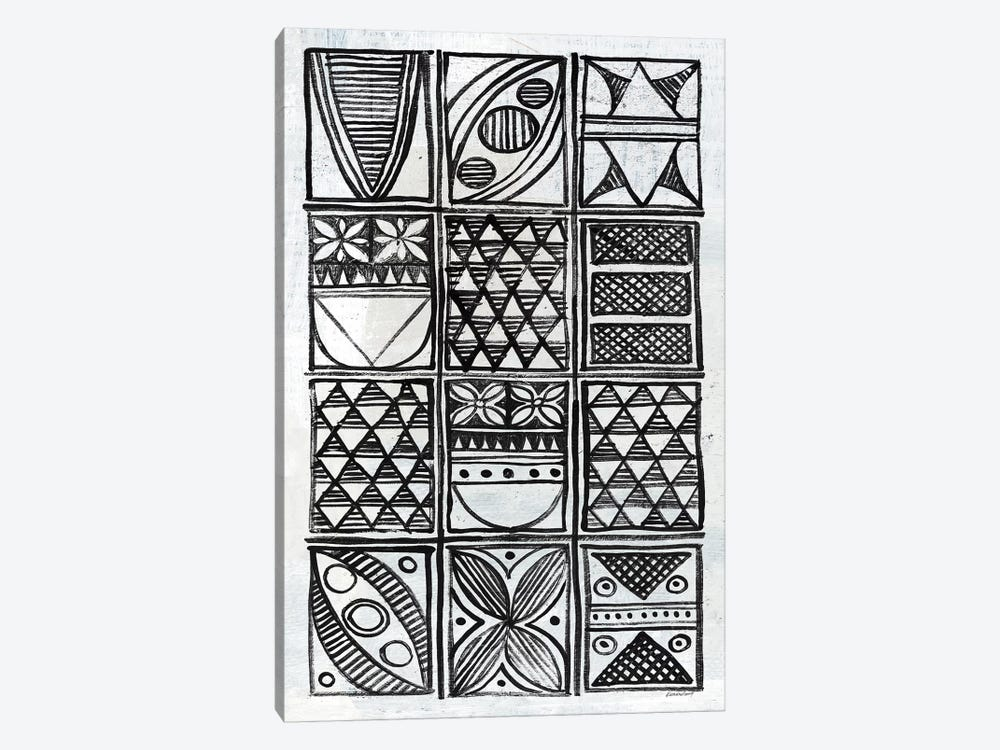 Patterns Of The Amazon B&W III by Kathrine Lovell 1-piece Canvas Print