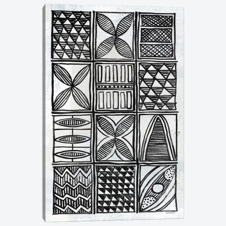 Patterns Of The Amazon B&W IV Canvas Print #WAC7256} by Kathrine Lovell Canvas Print