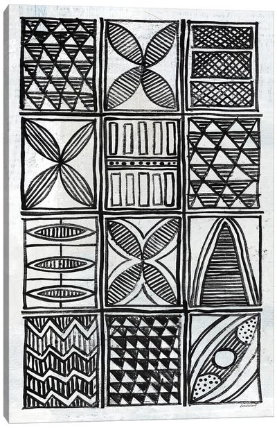 Patterns Of The Amazon B&W IV Canvas Art Print
