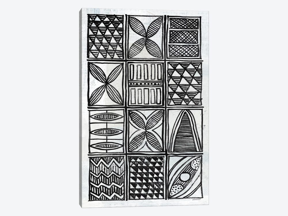 Patterns Of The Amazon B&W IV by Kathrine Lovell 1-piece Canvas Wall Art