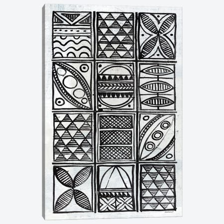 Patterns Of The Amazon B&W V Canvas Print #WAC7257} by Kathrine Lovell Canvas Print
