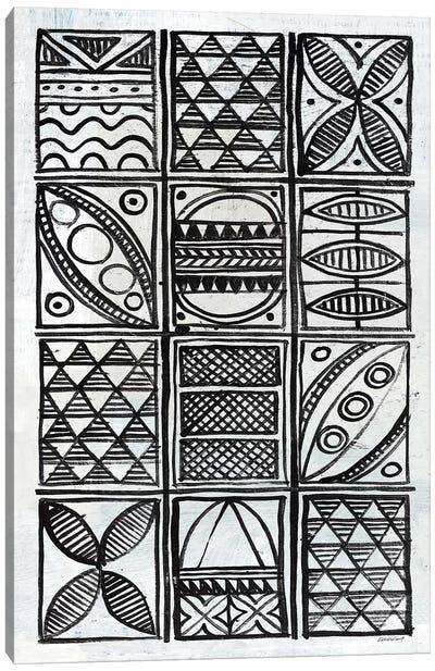 Patterns Of The Amazon B&W V Canvas Art Print