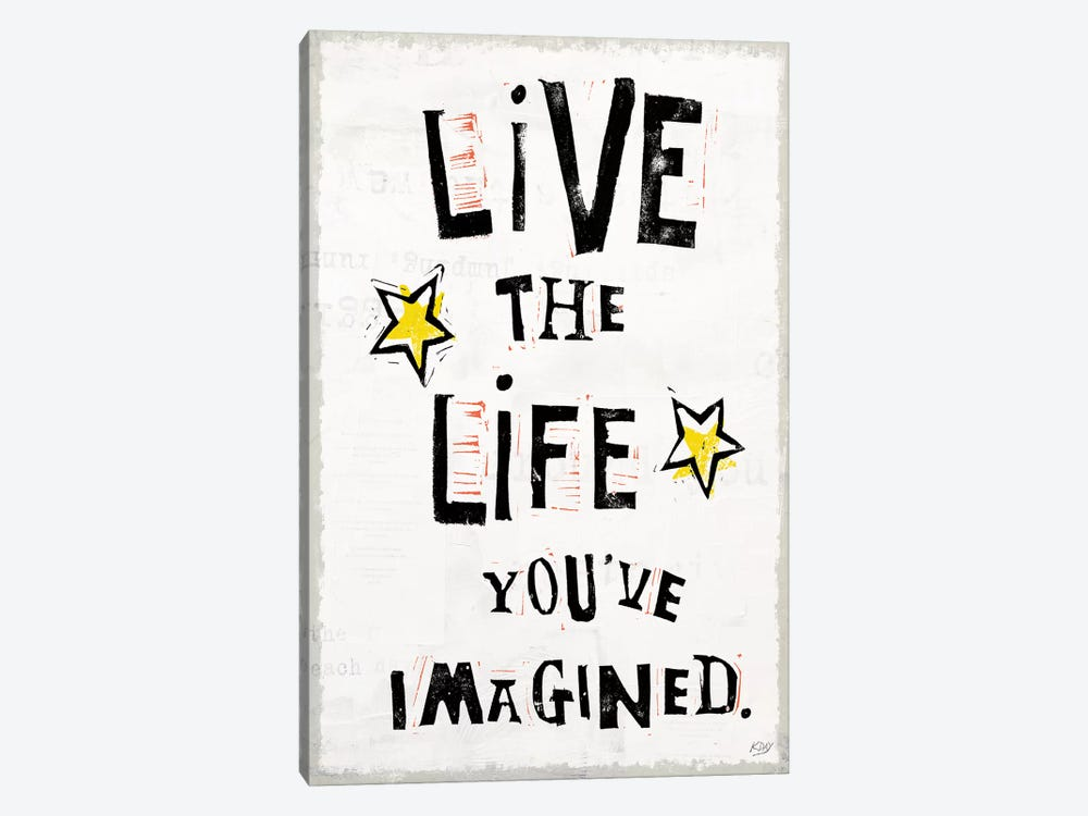 Live To The Fullest IV by Kellie Day 1-piece Canvas Art