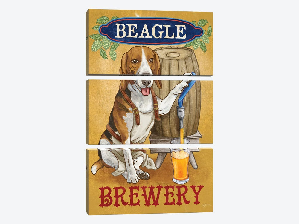 Beer Dogs IV by Mary Urban 3-piece Canvas Artwork