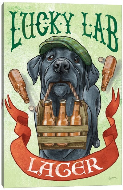 Beer Dogs V Canvas Art Print