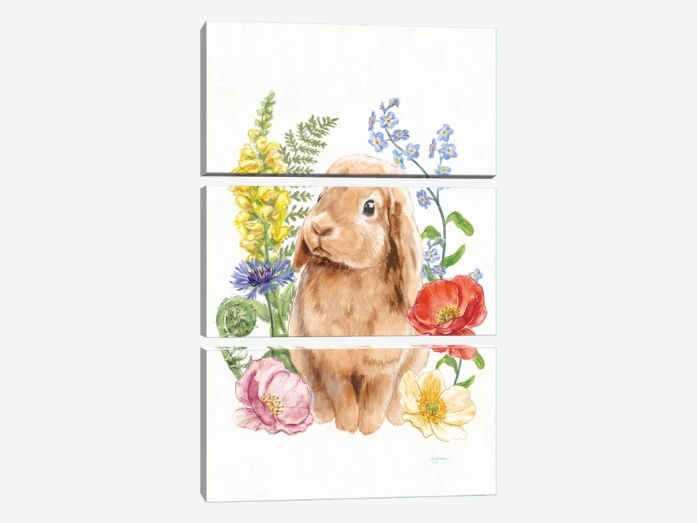 Sunny Bunny I by Mary Urban 3-piece Canvas Art Print