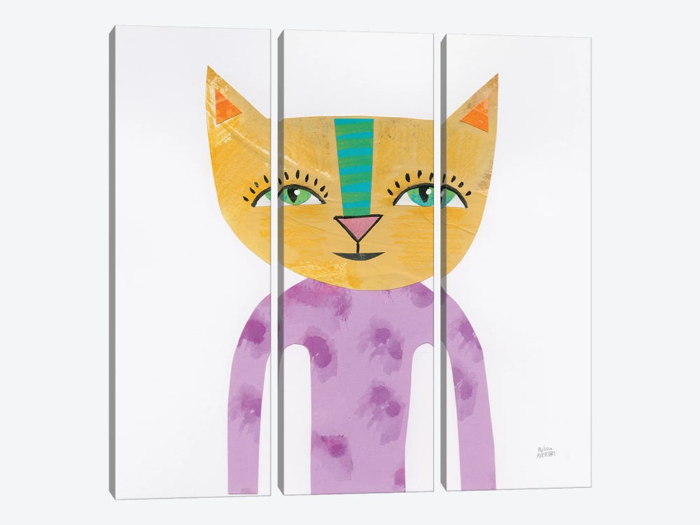 Cool Cats IV by Melissa Averinos 3-piece Canvas Artwork